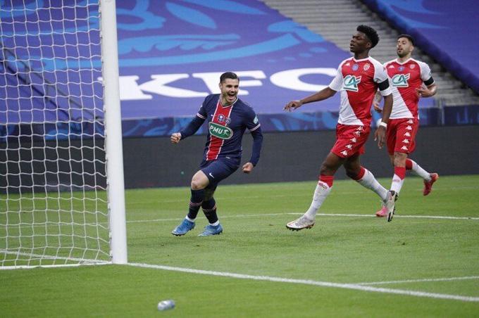 Icardi mở tỷ số trận Monaco vs PSG ở phút 19