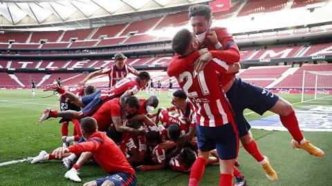 Atletico đứng trước cơ hội lớn vô địch La Liga mùa này