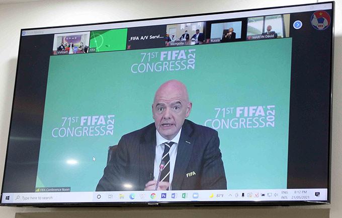 Đại hội FIFA lần thứ 71 diễn ra theo hình thức trực tuyến