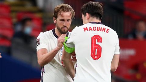 Kane và Maguire là đội trưởng và đội phó tại ĐT Anh