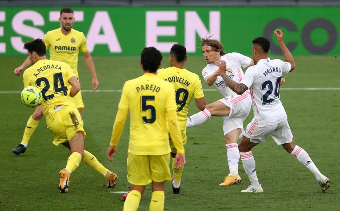 Modric ấn định tỷ số 2-1 trận Real vs Villarreal