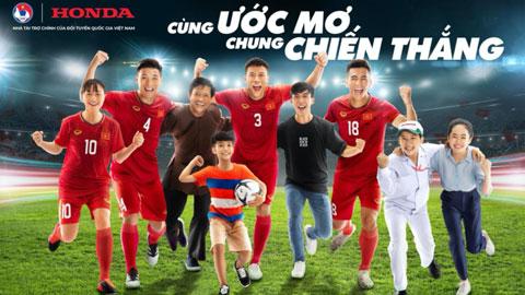 Honda Việt Nam tiếp tục tài trợ các Đội tuyển bóng đá Quốc gia Việt Nam