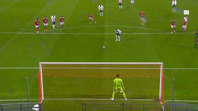 Neymar không thắng được thủ môn đối phương từ cự ly 11m