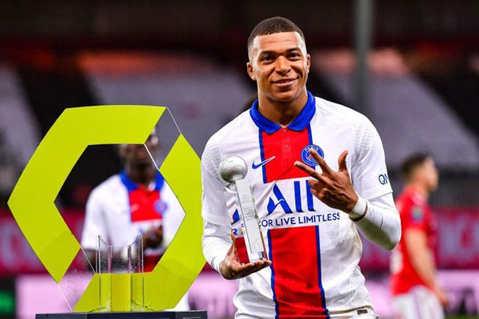 Mbappe giành Vua phá lưới với 27 bàn thắng