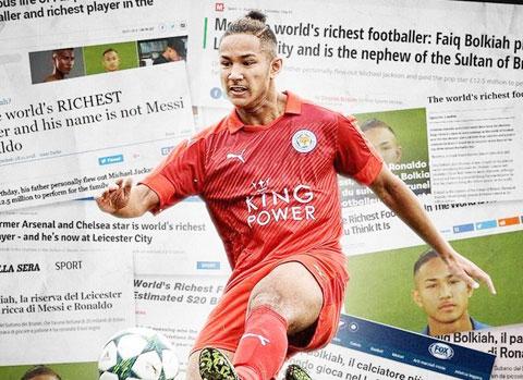 """Các báo nhắc đến Faiq Bolkiah đều với vị thế """"cầu thủ giàu nhất thế giới"""""""