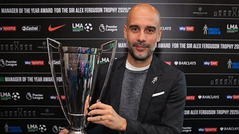 Pep Guardiola giành giải HLV hay nhất nước Anh 2020/21