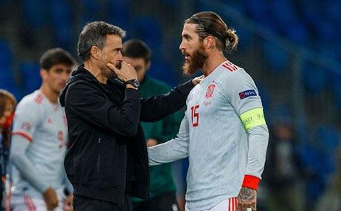 Enrique đã không cho Ramos có cơ hội thi đấu giải đấu cuối cùng ĐT Tây Ban Nha