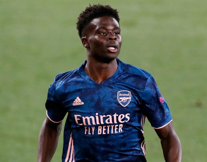 Saka là nhân tố không thể thay thế của Arsenal mùa này