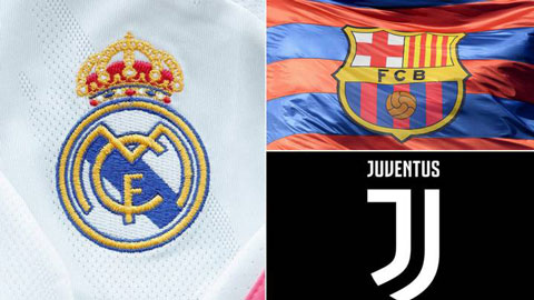 UEFA bắt đầu các thủ tục trừng phạt Juventus, Barca và Real