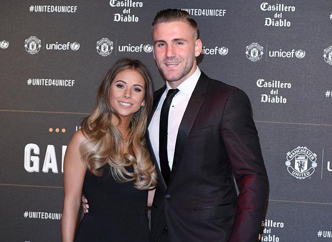 Anouska Santos và Luke Shaw không rõ đã bắt đầu hẹn hò từ khi nào nhưng cả hai có chung cậu con trai Reign London, vào tháng 11 năm 2019. Lúc này, Shaw vẫn giấu kín về thân thế và công việc của bạn gái