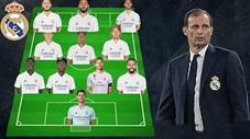 Real Madrid sẽ đá với đội hình nào nếu Allegri thay Zidane