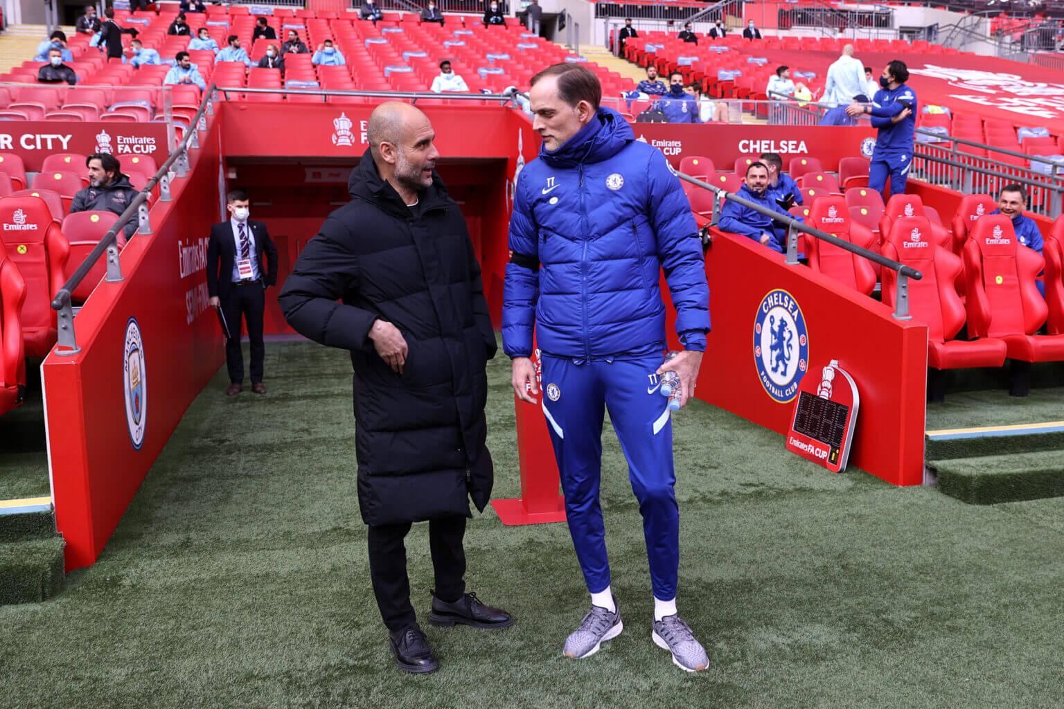Pep đã muốn Tuchel kế vị mình ở Bayern nhưng định mệnh lại để họ sang Anh, nơi Pep chịu thua tại Bán kết FA Cup