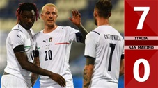Italia vs San Marino: 7-0 (Giao hữu quốc tế 2021)