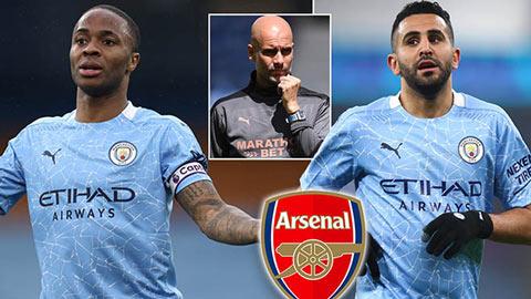 Man City rao bán Sterling và Mahrez, Arsenal sẵn sàng chào đón