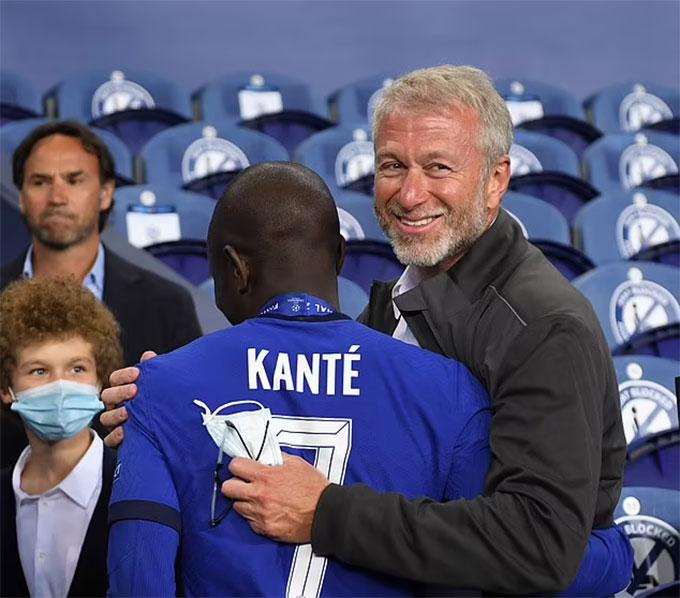Abramovich rất hài lòng với màn trình diễn của Kante