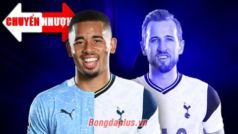 Tin chuyển nhượng 31/5: Tottenham nhắm Gabriel Jesus, mở đường Kane tới Man City
