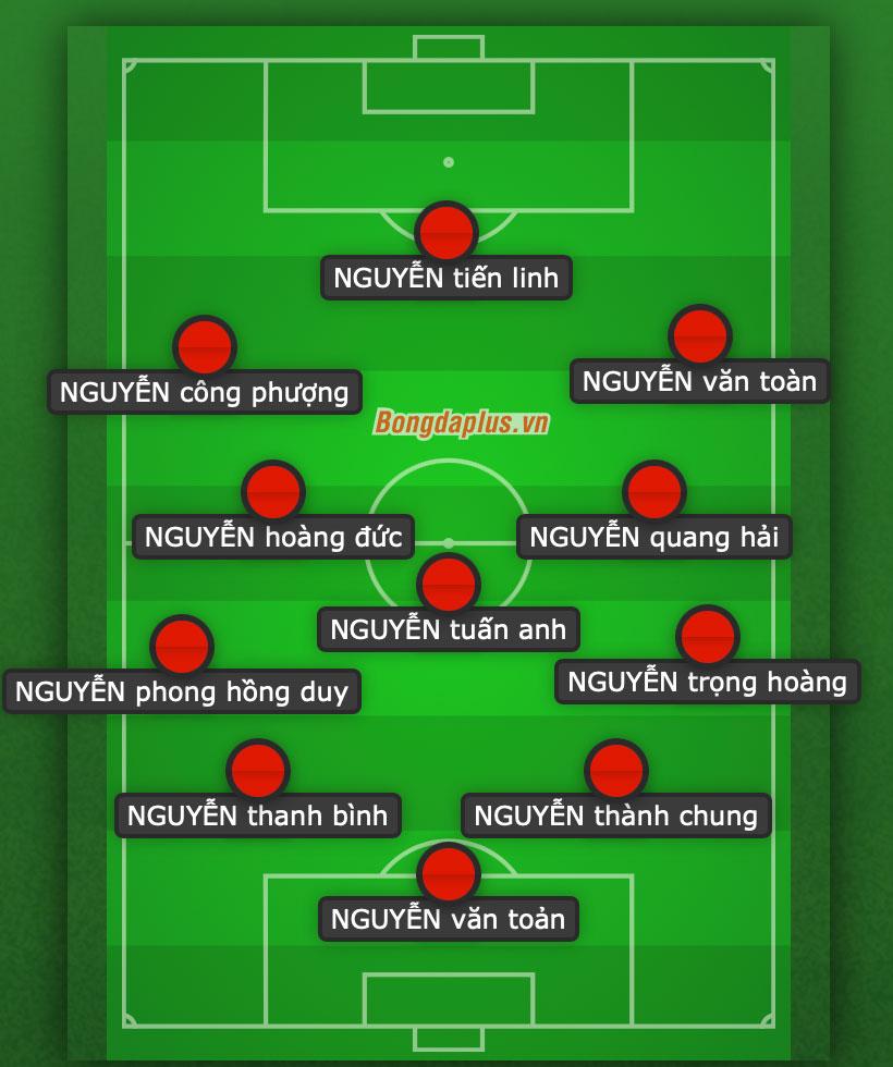 Cầu thủ đối phương choáng váng khi đối đầu với 11 cầu thủ họ Nguyễn bên phía Việt Nam