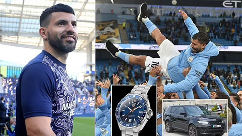 Aguero tặng đồng hồcho 60 nhân viên Man City