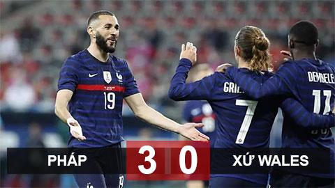 Kết quả Pháp 3-0 xứ Wales: Les Bleus thị uy sức mạnh