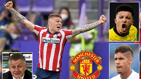 Chuyển nhượng Man United: Áp sát Trippier, 'chốt đơn' với Sancho và Varane