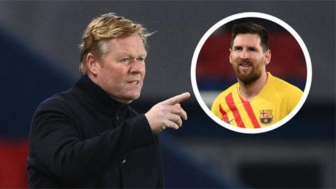Việc HLV Koeman được Barca giữ lại có phần nguyên nhân quan trọng từ nhờ sự ủng hộ của... Messi