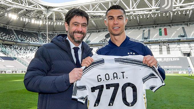 Chủ tịch Andrea Agnelli tin Ronaldo là một thương vụ thành công của Juventus