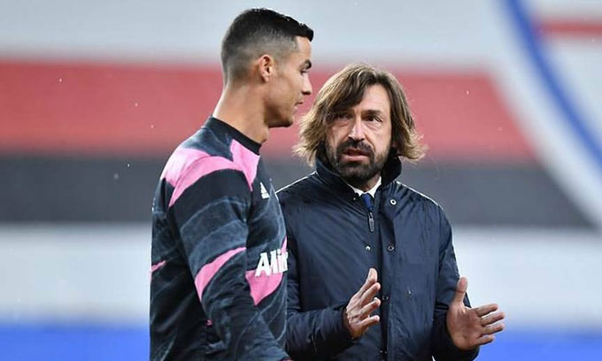 Ronaldo có theo chân Pirlo ra đi là điều mà NHM Juventus đang hoài nghi