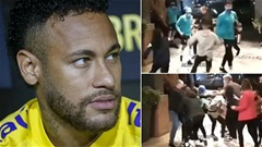 Neymar bị fan cuồng 'đốn giò' khi vừa rời xe buýt chở ĐT Brazil