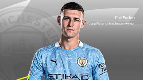 Foden giành giải Cầu thủ trẻ xuất sắc nhất Premier League 2020/21