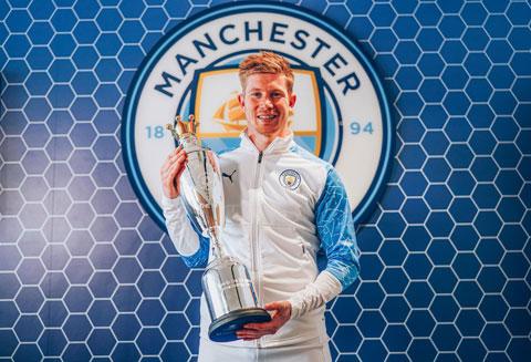 Kevin De Bruyne lần thứ hai nhận giải Cầu thủ xuất sắc nhất mùa của PFA