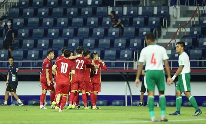 ĐT Việt Nam đã có chiến thắng 4-0 trước Indonesia. Ảnh: Minh Anh