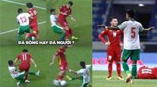 Những pha đá người thay vì đá bóng của Indonesia trước Việt Nam