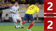 Colombia vs Argentina: 2-2 (vòng loại World Cup 2022)