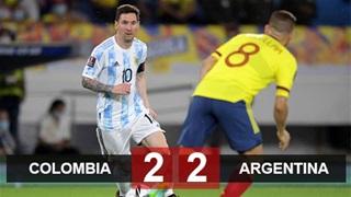 Ghi 2 bàn trong 6 phút đầu, Argentina vẫn bị Colombia cầm hòa