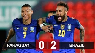 Neymar tỏa sáng, Brazil thắng trận thứ 6 liên tiếp ở vòng loại World Cup