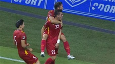 Tiến Linh đánh đầu dũng mãnh mở tỷ số (trực tiếp: Malaysia 0-1 Việt Nam)