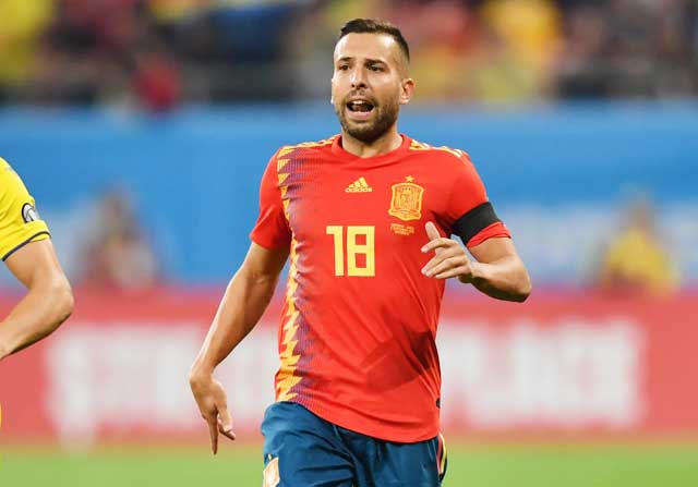 Jordi Alba sẽ đeo băng đội trưởng của ĐT Tây Ban Nha tại EURO 2020