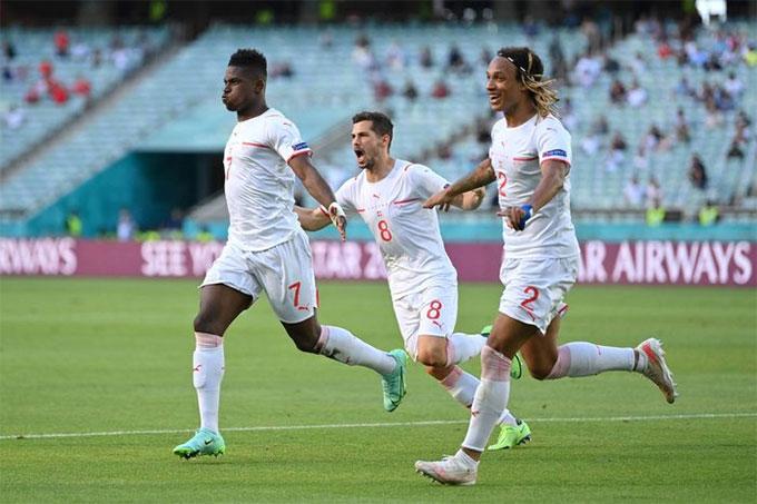 Embolo ghi bàn thắng đầu tiên cho Thụy Sỹ ở EURO 2020
