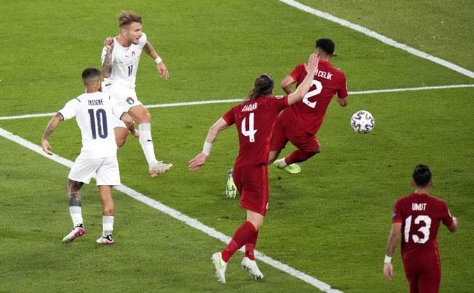Italia đã chơi một trận hay trước Thổ Nhĩ Kỳ