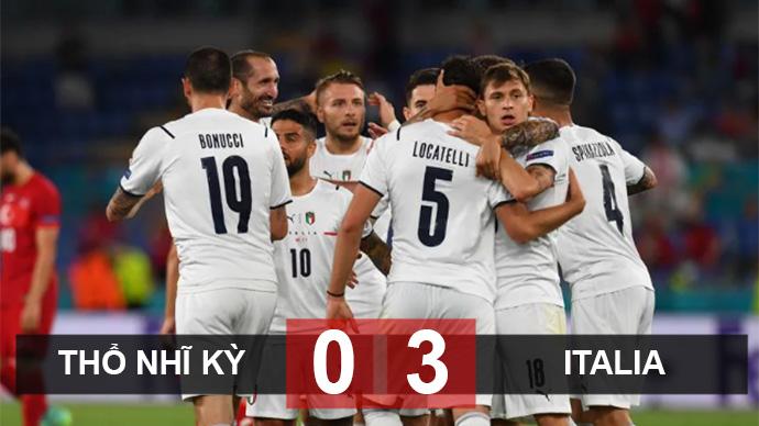 Kết quả Thổ Nhĩ Kỳ 0-3 Italia: Immobile nổ súng giành 3 điểm cho Thiên thanh
