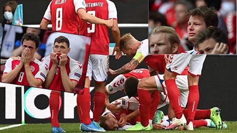 Cầu thủ và CĐV Đan Mạch bật khóc khi Eriksen bất tỉnh trên sân