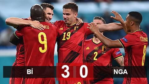 Kết quả Bỉ 3-0 Nga: Lukaku tỏa sáng với cú đúp bàn thắng