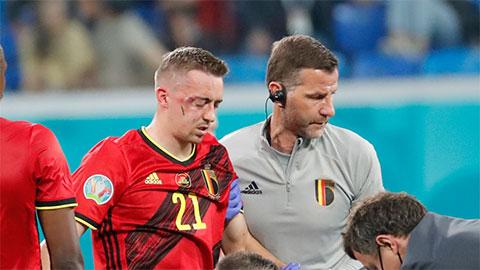 ĐT Bỉ: Castagne vỡ hốc mắt giống De Bruyne, nghỉ hết EURO
