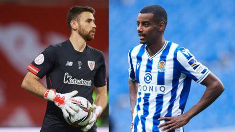 Simon (trái) và Isak quá hiểu nhau sau những lần đụng độ  giữa Bilbao và Sociedad ở derby xứ Basque