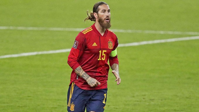 Ramos vắng mặt ở EURO 2020