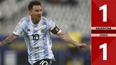 Argentina vs Chile: 1-1 (Copa America 2021)