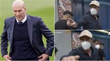 HLV Zidane nổi điên, mắng phóng viên té tát khi trở lại Madrid