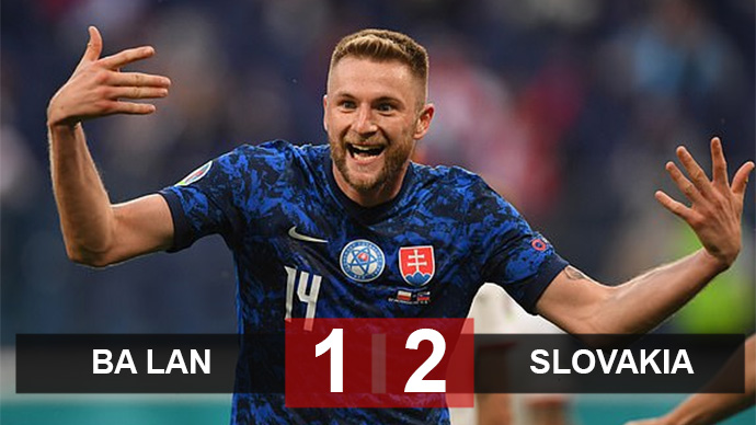 Kết quả Ba Lan 1-2  Slovakia: Sai lầm báo hại Đại bàng trắng