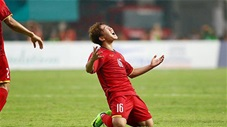 Minh Vương thi đấu quá hay trước UAE sau khi vào sân từ ghế dự bị