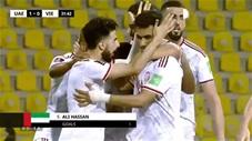 Ali Salmeen ghi bàn mở tỷ số (UAE 1-0 Việt Nam)